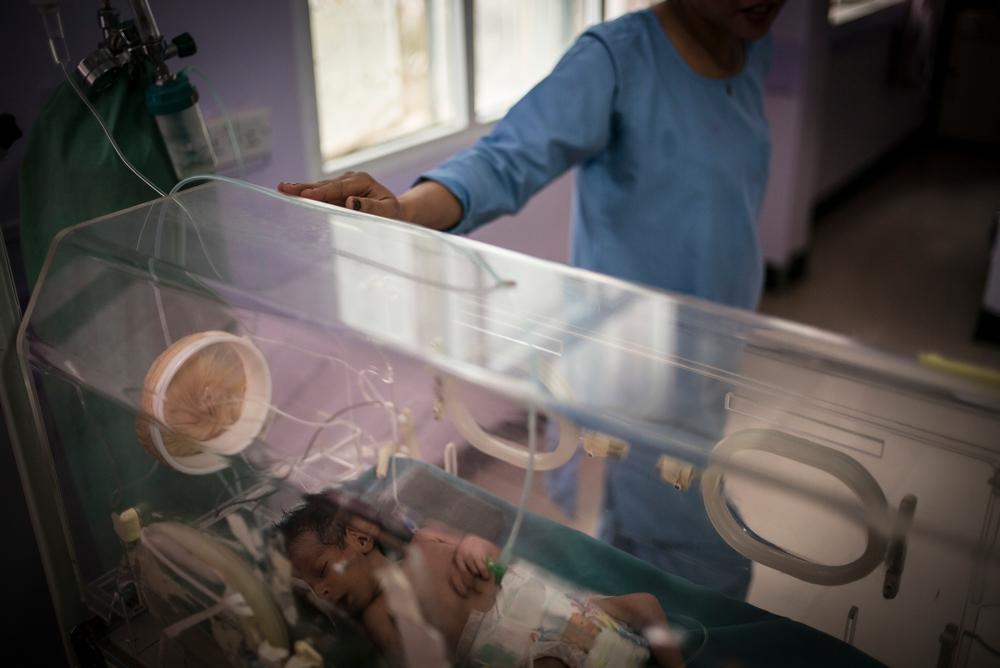 Vastasyntynyt sairaalassa Jemenin pääkaupungissa