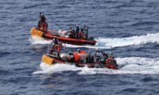 Ocean Viking -aluksen ensimmäinen pelastustehtävä suoritettiin vain kymmenen tuntia pelastusalueelle saapumisen jälkeen.