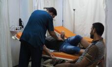 Päivystyksessä Nablusin sairaalassa.